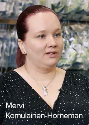 Lumingerien Mervi Komulainen-Horneman kertoo, kuinka heidän verkkokauppansa hankkii asiakkaita.