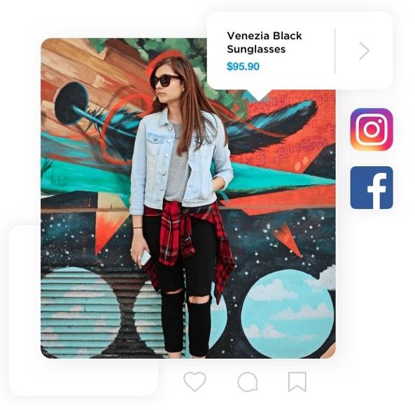 ecwid facebook ja instagram integraatio ja tuotesyötteet kuuluvat mukaan