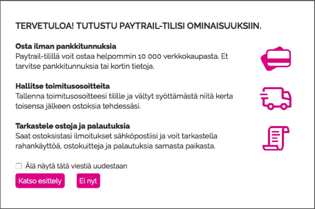 Julkaisu 2/2016: Paytrail-tilin kiertoajelu -ominaisuus julkaistu