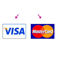The combined Visa and MasterCard payment button will be divided into two separate buttons